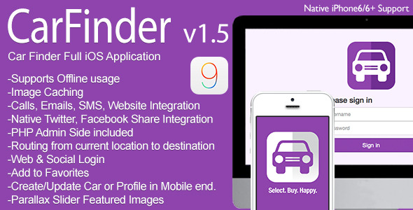 Car Finder Full iOS Application v1.5 - CodeCanyon Item for Sale