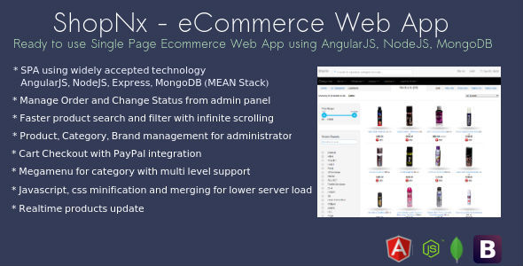 ShopNx – AngularJS eCommerce Web Application (Shopping Carts) images