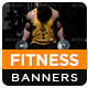 Gym & Fitness HTML5 Banners - GWD - 7 Sizes