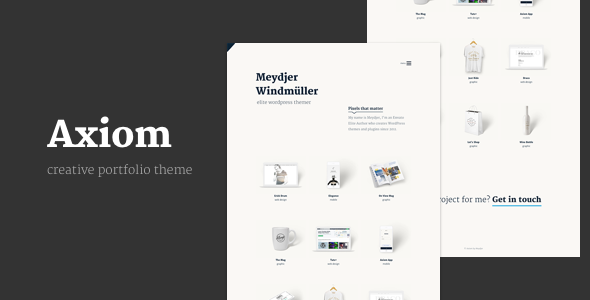 Axiom - Creative Portfolio Layers WP Child Theme