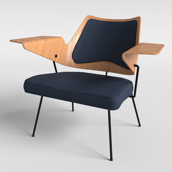 Hall chair by Robin Day  - 3DOcean Item for Sale