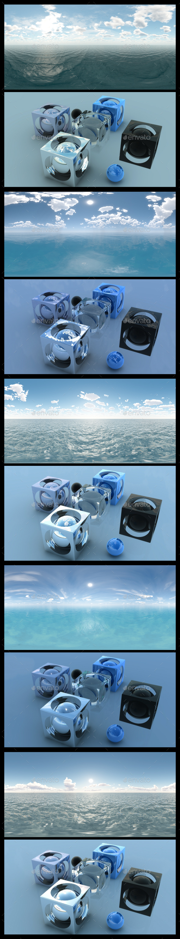 Ocean Blue Clouds - HDRI Pack - 3DOcean Item for Sale
