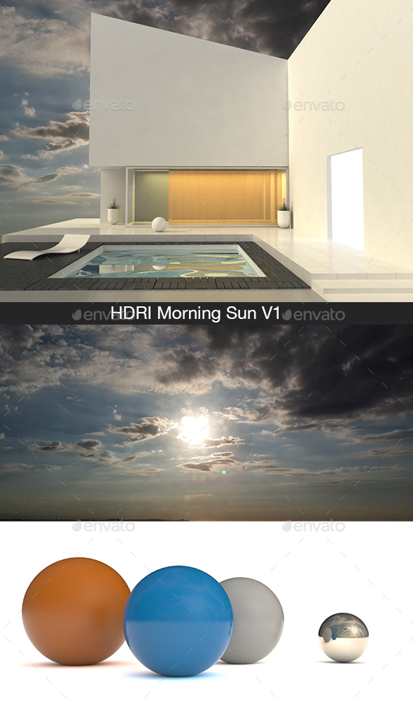 HDRI Morning Sun V1 - 3DOcean Item for Sale