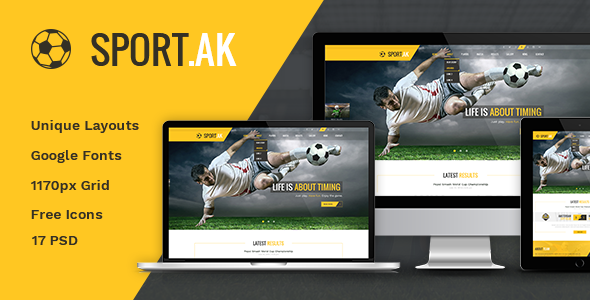 Football Club Templates from ThemeForest