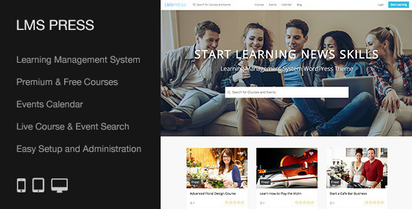LMS Press | Learning Management System WP Theme