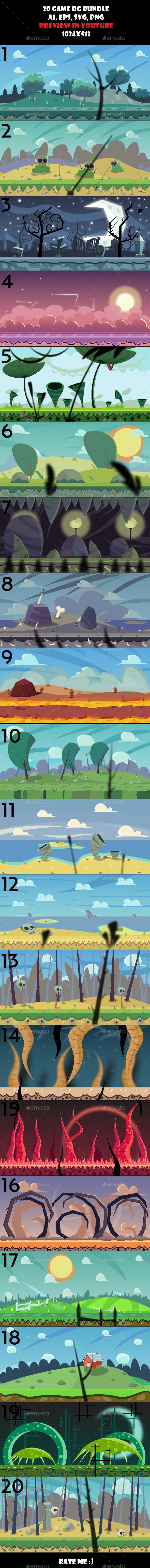 20 BG bundle (Backgrounds)