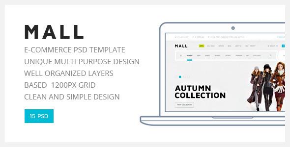 Mall — Multi-Purpose eCommerce PSD Template