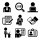 Business, Management And Human Job Resources Icons
