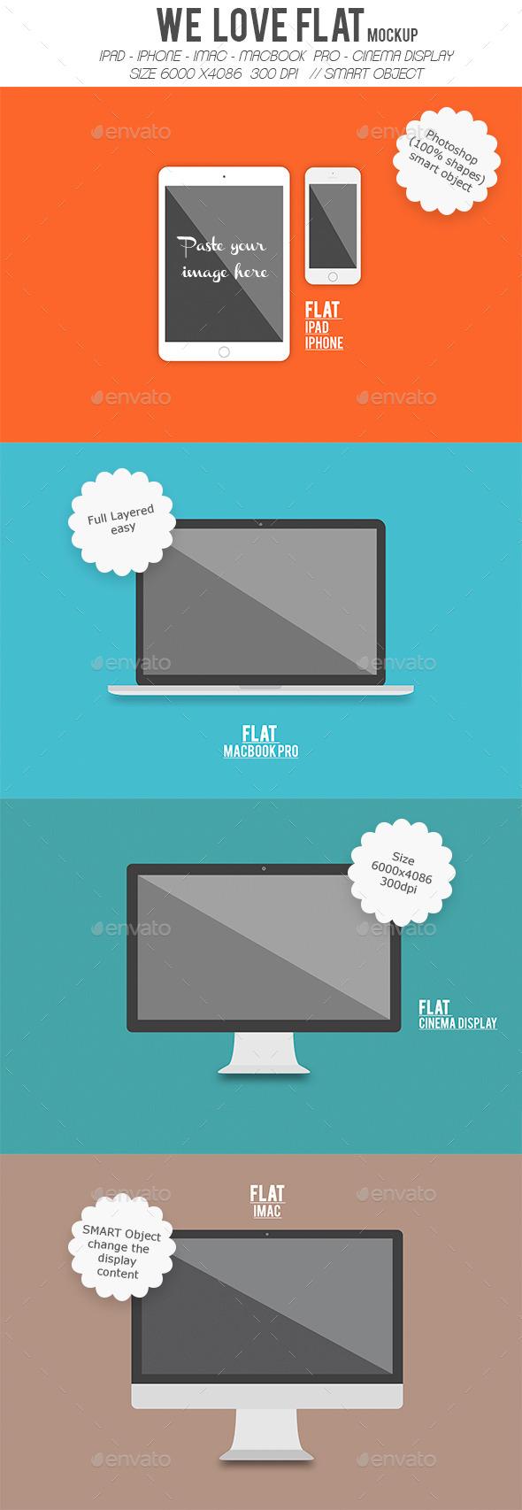 Flat Device Screen Display