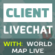 Live Client Chat - Help Chat With Visitors Map