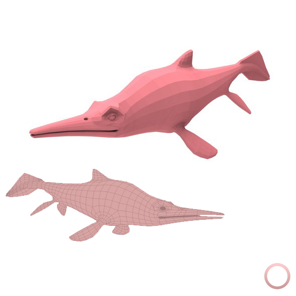 Ichthyosaurus Base Mesh - 3DOcean Item for Sale