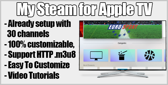 CodeCanyon My Stream Streaming TV For Apple Tv 13105412