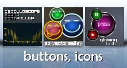 Buttons, icons