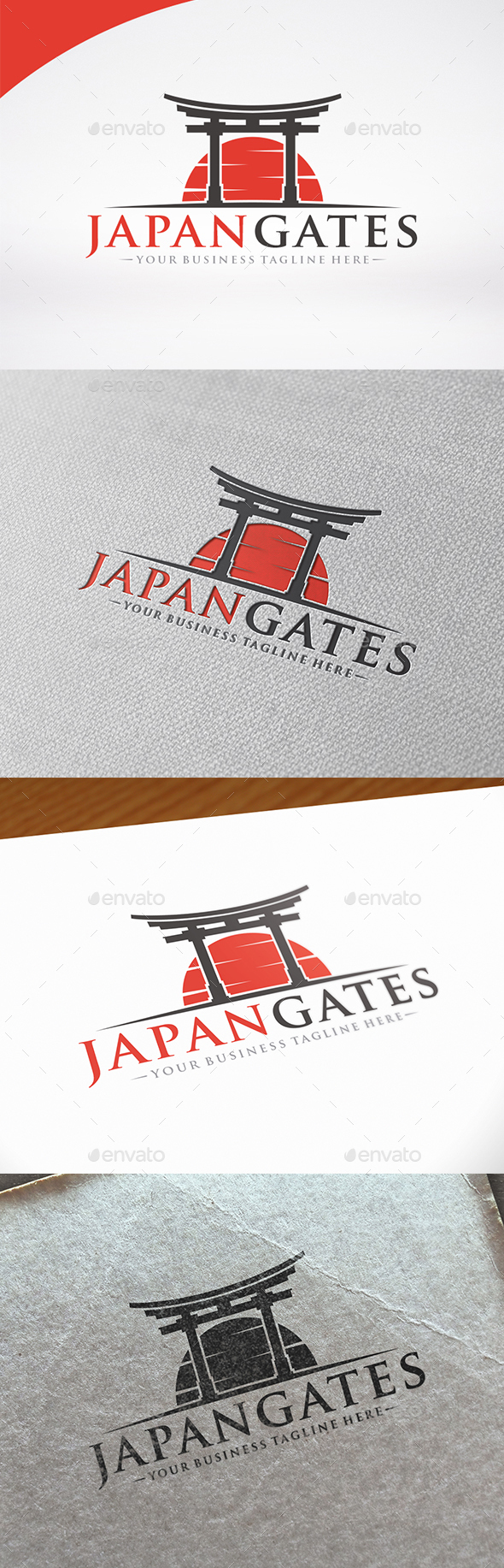 Japan Gate Logo Template