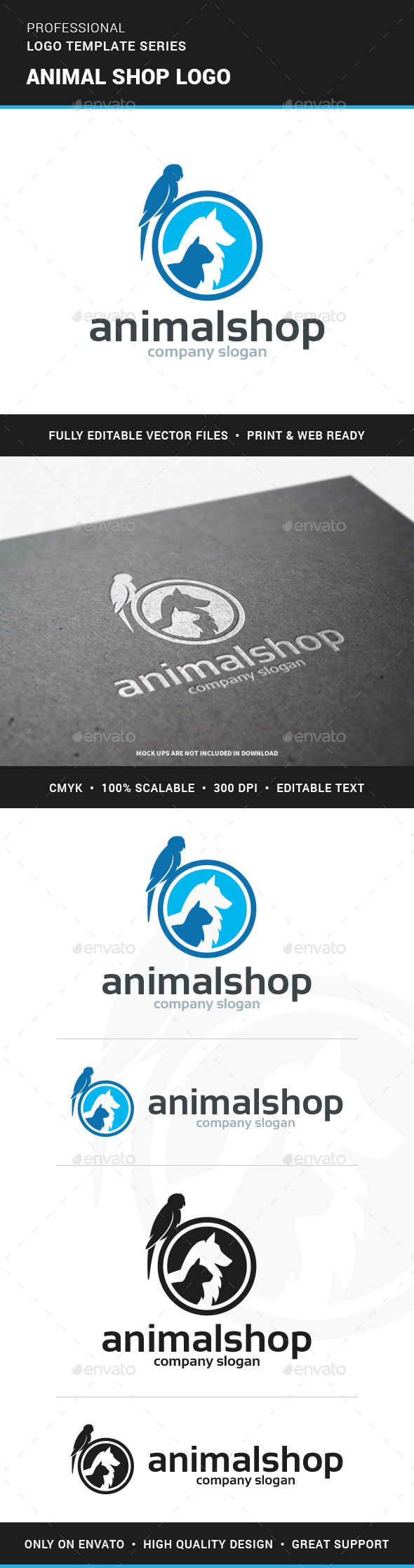 Animal Shop Logo Template