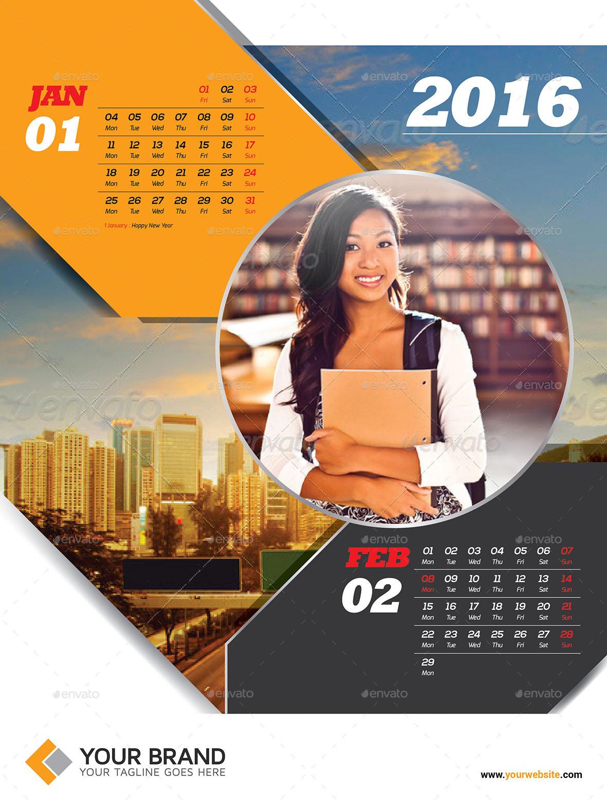 Corporate Wall Calendar Ideas : Wall calendar by olaylay graphicriver