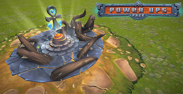 Power-Ups Pack Low Poly - 3DOcean Item for Sale