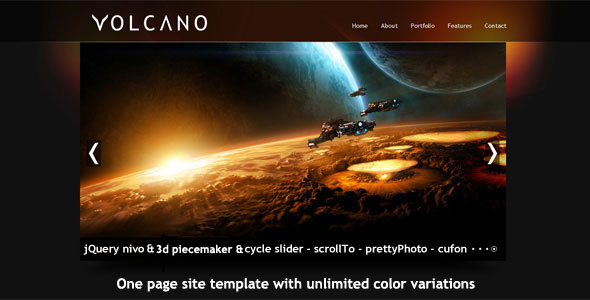 Volcano Single Page HTML Template