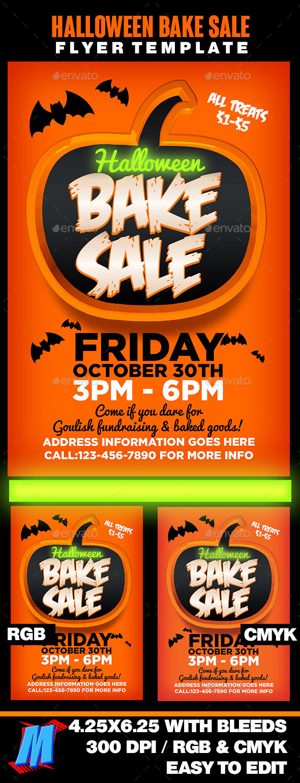 Halloween Bake Sale Flyer Template