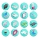 Isometric Flat Style Design Colorful Business And