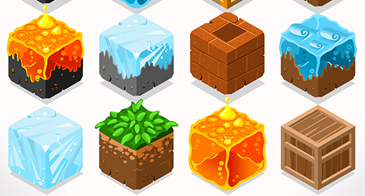 Cube Blocks 3D Vector Images like Lego Minecraft but not