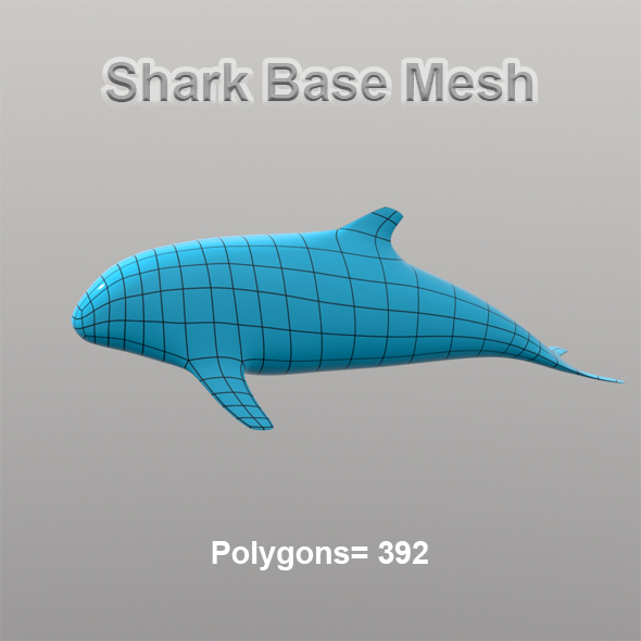 Shark Base Mesh - 3DOcean Item for Sale