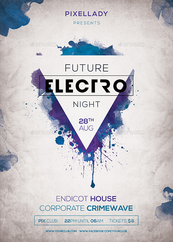 Future Electro Flyer by pixellady – Electro Flyer