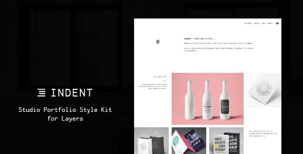 Indent - Studio Portfolio Style Kit for Layers