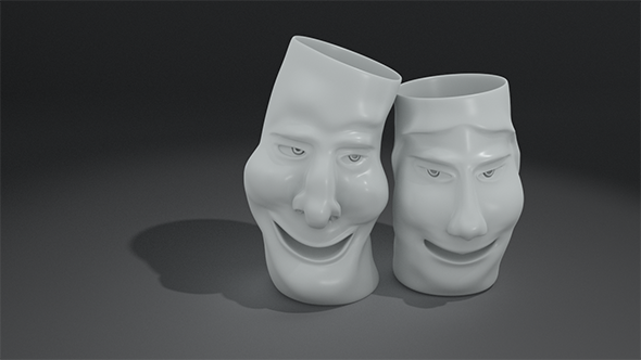 laughing vases - 3DOcean Item for Sale