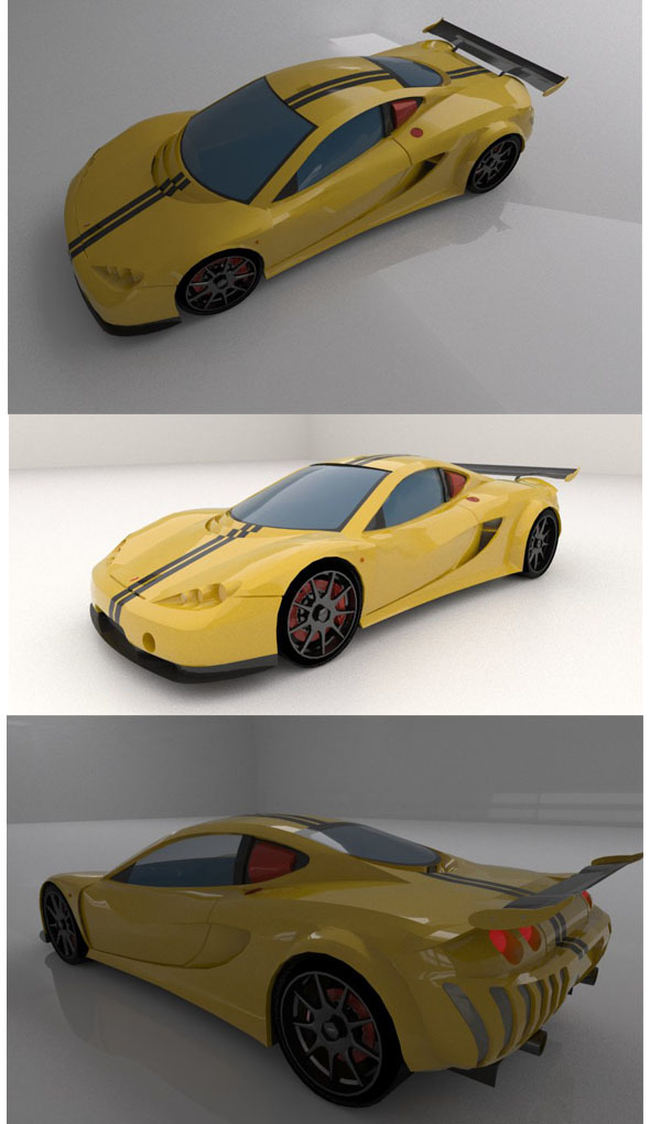 Ascari A10 sport car - 3DOcean Item for Sale