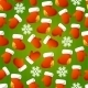 Xmas Striped Seamless Pattern.