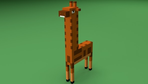 Low Poly Giraffe - 3DOcean Item for Sale