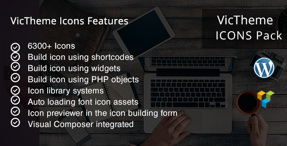 CodeCanyon VicTheme Icons Visualcomposer Addon 13123447