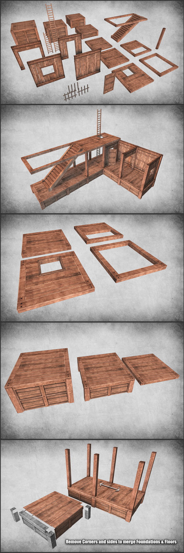 Survival Wood Crafting Kit - 3DOcean Item for Sale