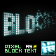 Pixel Block Text AS2 - ActiveDen Item for Sale