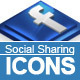 6 Social Sharing Icons w/ Color Lab - GraphicRiver Item for Sale