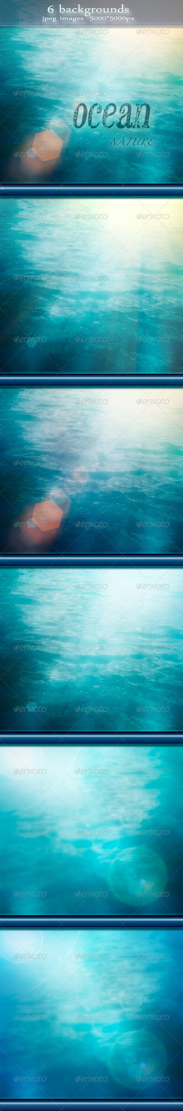 Nature Summer Ocean Backgrounds with Bokeh Effect - Nature Backgrounds