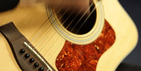 [VideoHive 1314988] Playing Acoustic Guitar in Studio | Stock Footage
