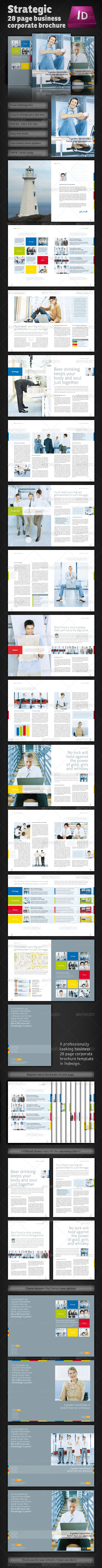 Strategic 28 Page Corporate Brochure - Corporate Brochures