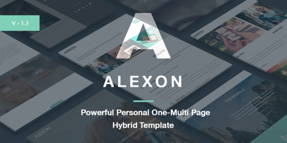 Alexon - Personal One-Multi Page Hybrid Template