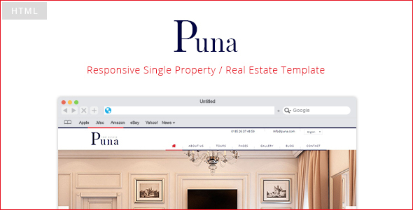 Puna - Responsive Single Property Template