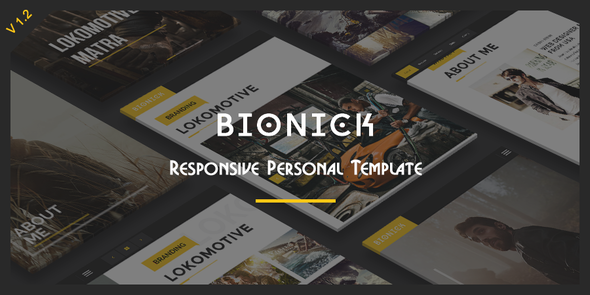 1. Bionick - Responsive Personal Portfolio Template