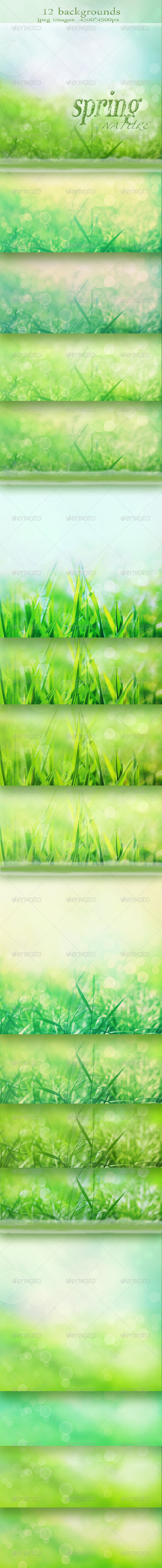 Nature Spring Backgrounds with Bokeh Effect