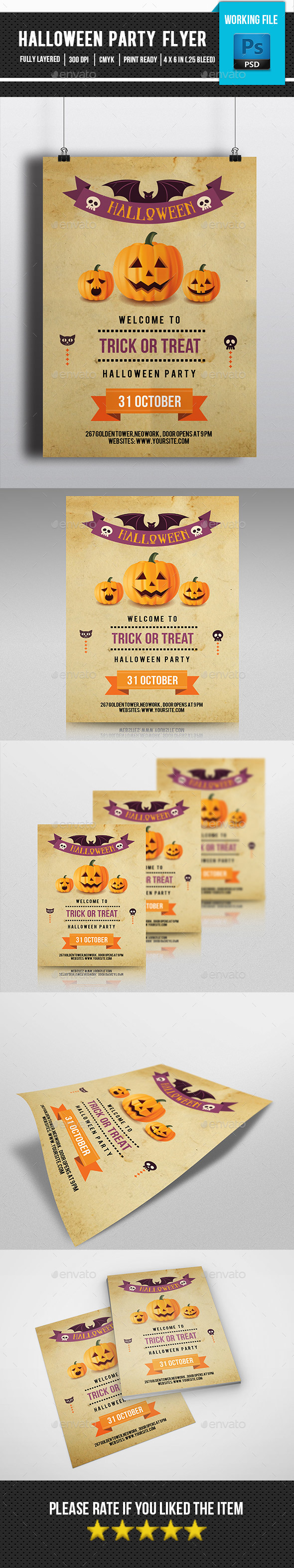 Retro Halloween Flyer-V121