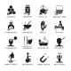 Alternative Medicine Black Icons Set
