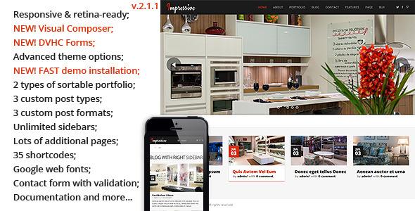 Impressive - Interior Responsive WordPress Theme
