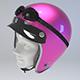 PINK Retro Motorcycle Helmet