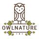 Owl Nature Logo Template