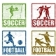 Soccer stamps - GraphicRiver Item for Sale