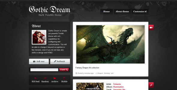 ThemeForest GothicDream 156904